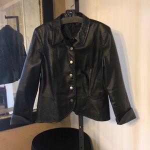 Shape Fx black leather jacket